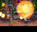 Wild Guns SNES Intense two-player action inside the Gold Mine. Just look at all those explosions!
