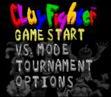 Clay Fighter: Tournament Edition SNES Main menu