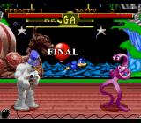 Clay Fighter: Tournament Edition SNES The fight is about to start at the redone Helga's scenario.