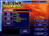 Midtown Madness 2 Windows Menu