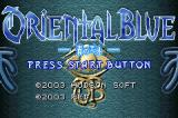 Oriental Blue: Ao no Tengai Game Boy Advance Title screen