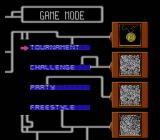 Championship Pool NES Game Mode selection screen