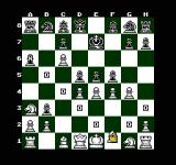 The Chessmaster NES The teaching mode with all the O and Xs to indicate possible moves with the selected piece in this case a bishop