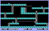 Lode Runner DOS Level 1 - climbing the ladder.