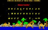 Revenge of the Mutant Camels DOS High score entry