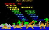 Revenge of the Mutant Camels DOS High score table
