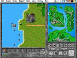 Warlords II Deluxe DOS A unit takes to the sea!