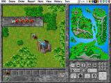 Warlords II Deluxe DOS Expanding the contents of a passing unit stack.