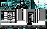 Hostage: Rescue Mission DOS Hiding in a door to avoid being seen (CGA).