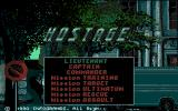 Hostage: Rescue Mission Apple IIgs Title and menu