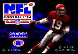 NFL Football '94 starring Joe Montana Genesis Title screen