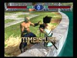 SoulCalibur II PlayStation 2 Time up, lower health loses.