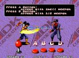 "Ninja Master's Neo Geo The usual ""How To Play"" screen, with some basic fighting commands..."
