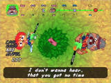 Um Jammer Lammy PlayStation If you do badly, the bear in the tree will leap down and swipe at you.