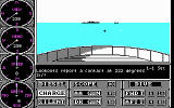 Sub Battle Simulator DOS A view of the surface (CGA)