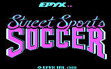 Street Sports Soccer DOS Title screen (CGA)
