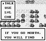 Gargoyle's Quest Game Boy Talking to a helpful ghoul.