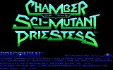 Chamber of the Sci-Mutant Priestess DOS Title screen (EGA)