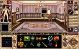 Elvira II: The Jaws of Cerberus Amiga Exploring a room in the haunted house...