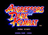 Aggressors of Dark Kombat Neo Geo Title screen.