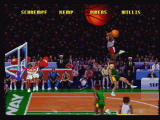 NBA Jam Tournament Edition Jaguar Insane dunks spice up the gameplay.