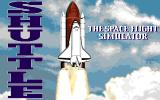 Shuttle: The Space Flight Simulator Amiga Title screen
