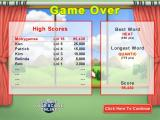 Word Krispies Windows High score table