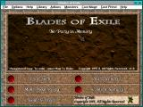 Blades of Exile Windows 3.x Start menu