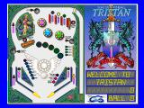 Solid State Pinball: Tristan DOS Game start (16 colours)