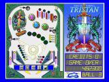 Solid State Pinball: Tristan DOS Start menu (256 colours)