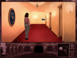The Beast Within: A Gabriel Knight Mystery DOS Grace, wondering around the theatre to see if everything fits the place.