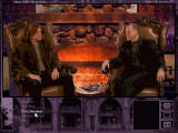 The Beast Within: A Gabriel Knight Mystery DOS The typical dialogue window (talking to one of the club members).