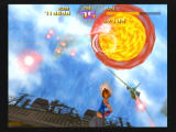 Sin and Punishment Wii A jet spherically explodes.
