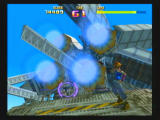 Sin and Punishment Wii A weapons satellite targeting Saki.