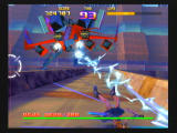 Sin and Punishment Wii Zapped by one of the games more conventional enemies.