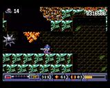 Turrican II: The Final Fight Amiga If you shoot this bouncing spike-ball, it will split into several small ones.