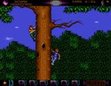Assassin Amiga Climbing up a tree.