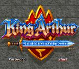 King Arthur & the Knights of Justice SNES Title screen