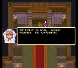 King Arthur & the Knights of Justice SNES King Arthur, your quest is urgent.