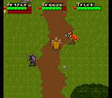 King Arthur & the Knights of Justice SNES Three knights questing.