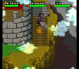 King Arthur & the Knights of Justice SNES Fighting on the stairs.