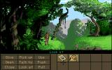 Indiana Jones and the Fate of Atlantis Amiga In the jungle in Tikal.
