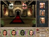 Might and Magic VII: For Blood and Honor Windows Ambassadors await the party in a newly transformed throne room at Harmondale castle.