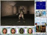 Might and Magic VII: For Blood and Honor Windows The party's own hand-built golem, set loose to guard Harmondale Castle.