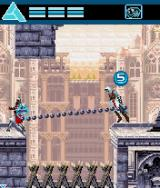 Assassin's Creed J2ME The grappling hook cannot only be used to move around, but also to pull enemies towards you.