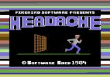Headache Commodore 64 Title (loading from tape)