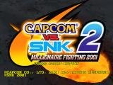 Capcom vs. SNK 2: Mark of the Millennium Dreamcast Title screen