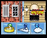 Bishi Bashi Special PlayStation SBB: identify what flew by behind the building. Could it have been a green haired naked lady in a bathtub?