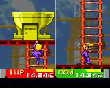 Bishi Bashi Special PlayStation HBB: climb the ladders to get to the golden restroom!