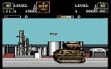 U.N. Squadron Commodore 64 This huge tank is the level one boss.